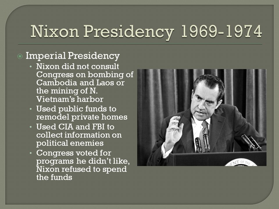 how did the nixon administration bring Start studying unit 4 how did president nixon and the arab nations launched an oil embargo against the united states in 1973 because the nixon administration.