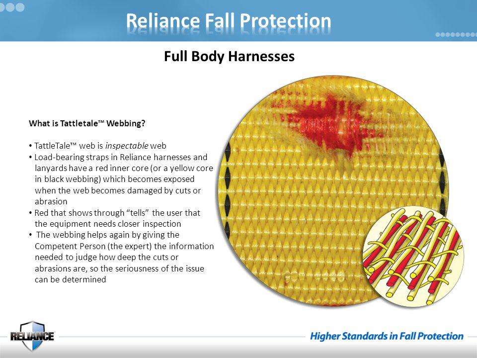 Full Body Harnesses What is Tattletale™ Webbing