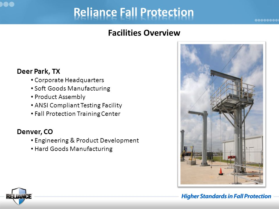 Facilities Overview Deer Park, TX Denver, CO Corporate Headquarters
