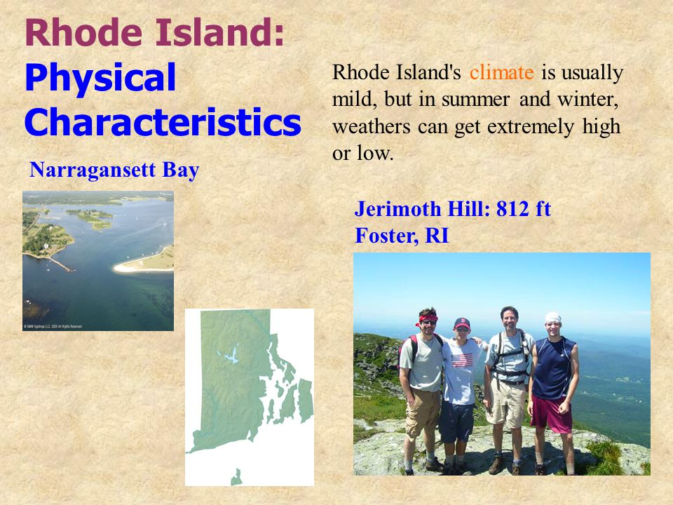 Rhode Island: Physical Characteristics