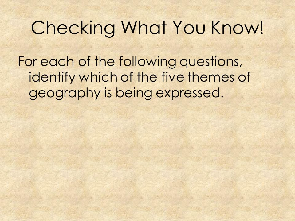 Checking What You Know.