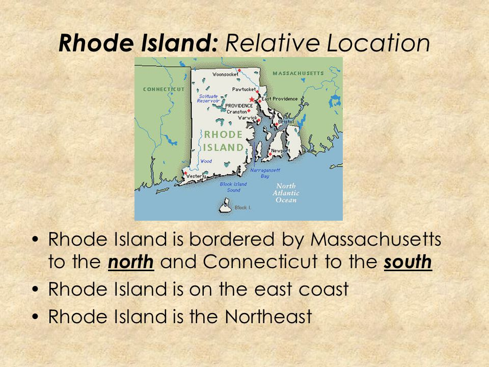 Rhode Island: Relative Location