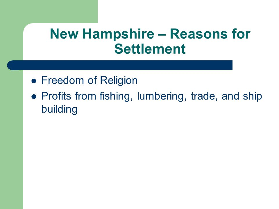 New Hampshire – Reasons for Settlement