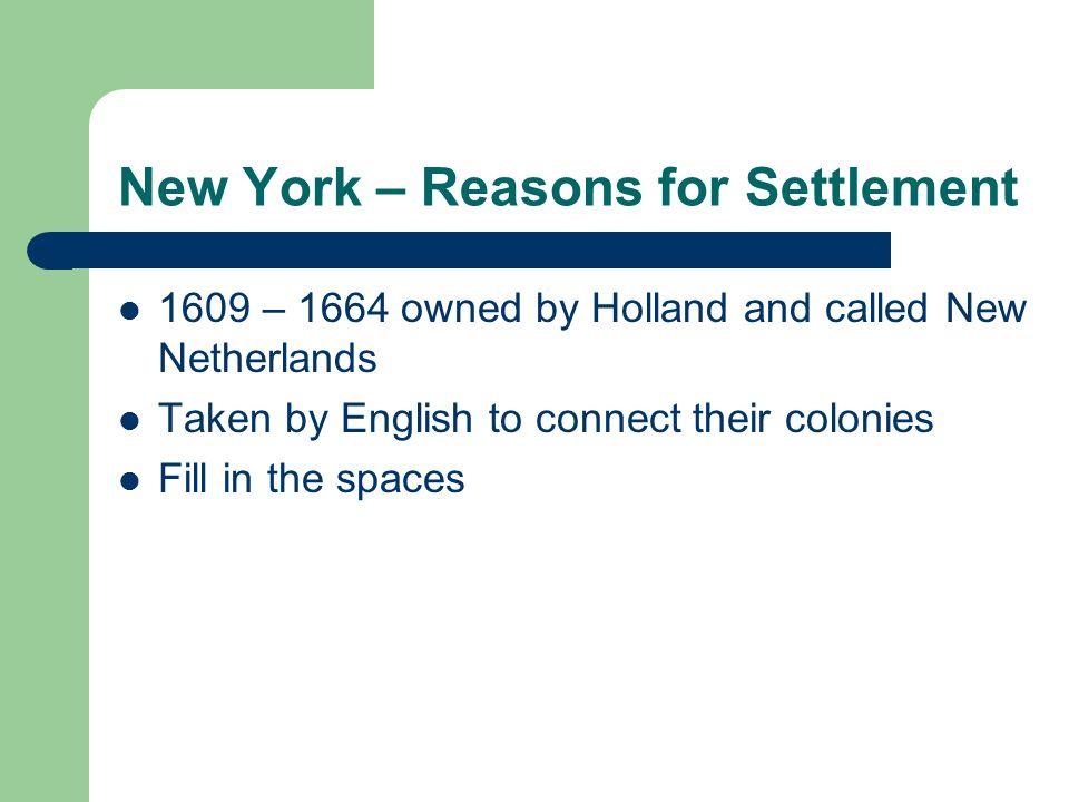 New York – Reasons for Settlement
