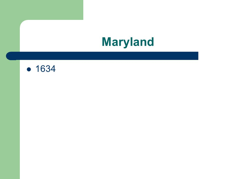 Maryland 1634