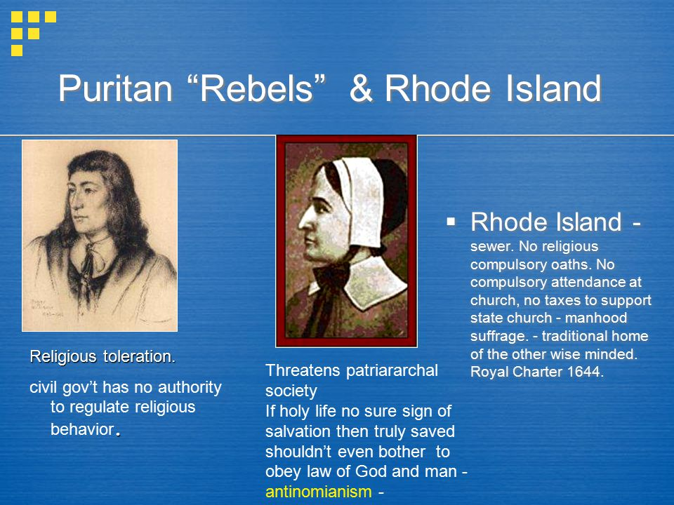 Puritan Rebels & Rhode Island