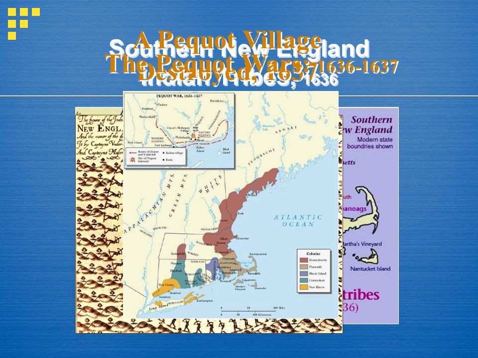 Southern New England Indian Tribes, 1636
