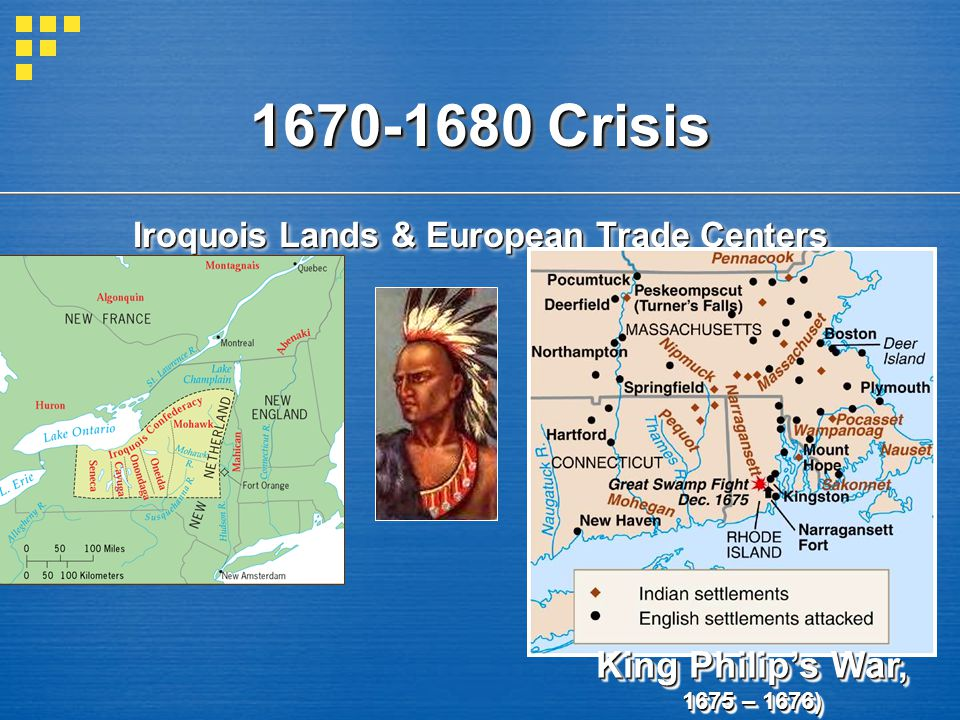 Iroquois Lands & European Trade Centers