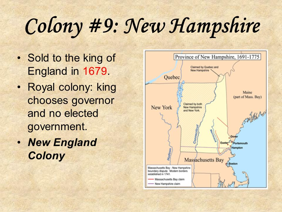 Colony #9: New Hampshire