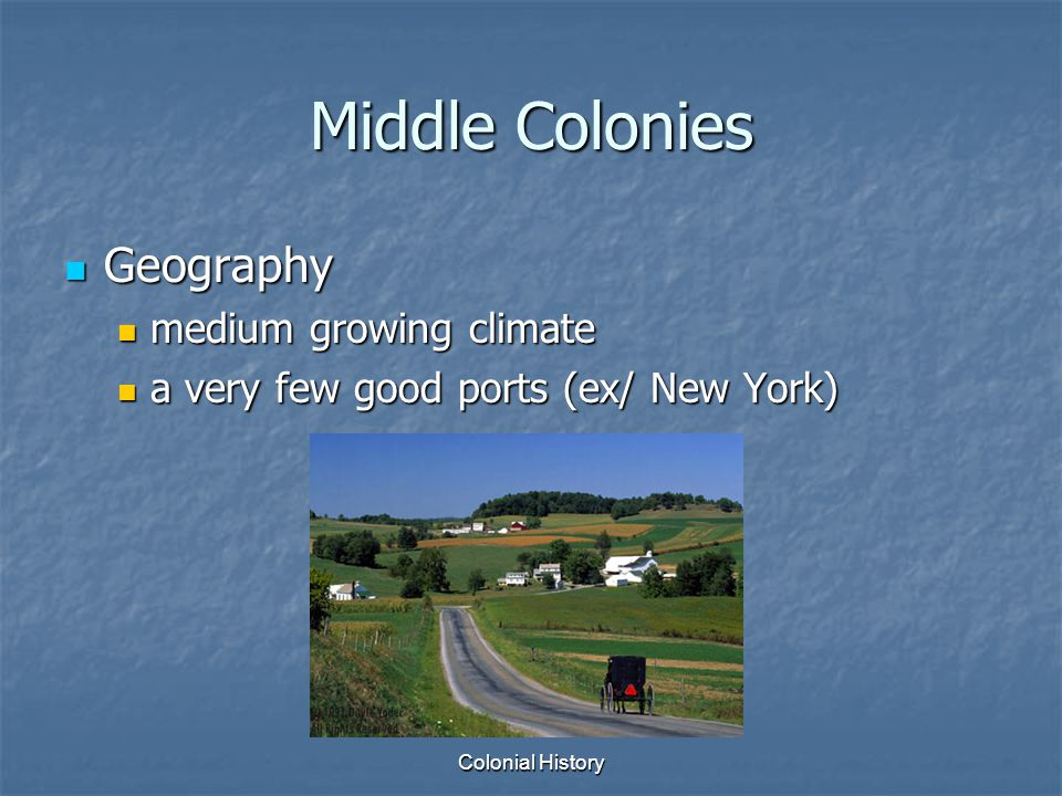 Middle Colonies Geography medium growing climate