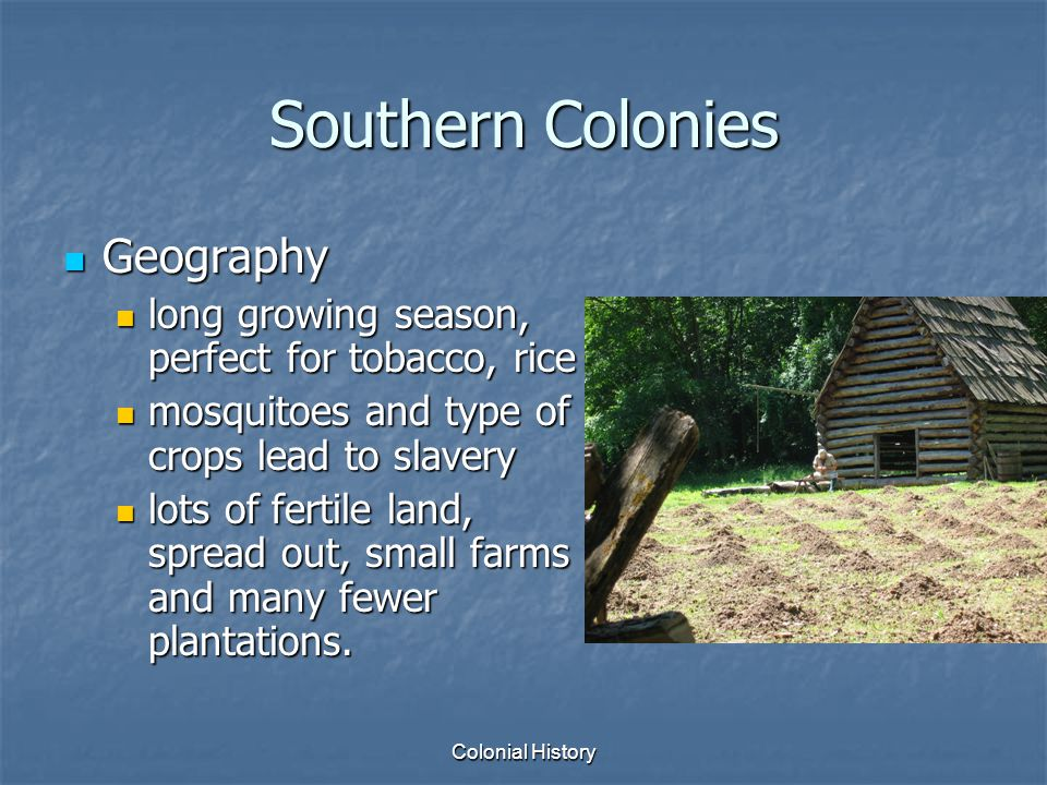 Southern Colonies Geography