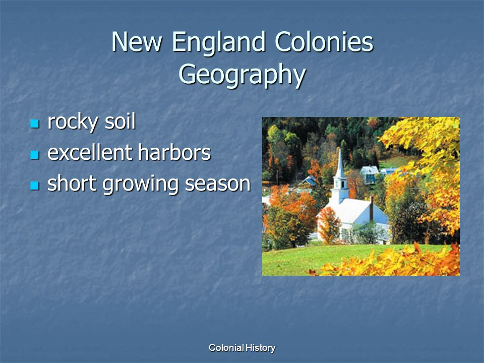 New England Colonies Geography