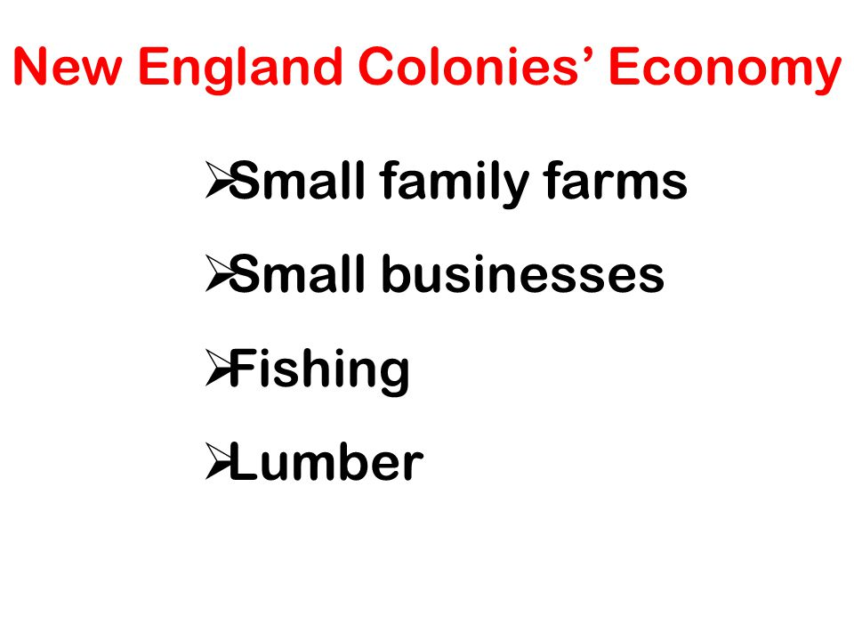 New England Colonies' Economy