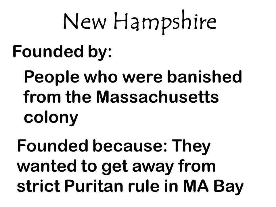 New Hampshire Founded by: