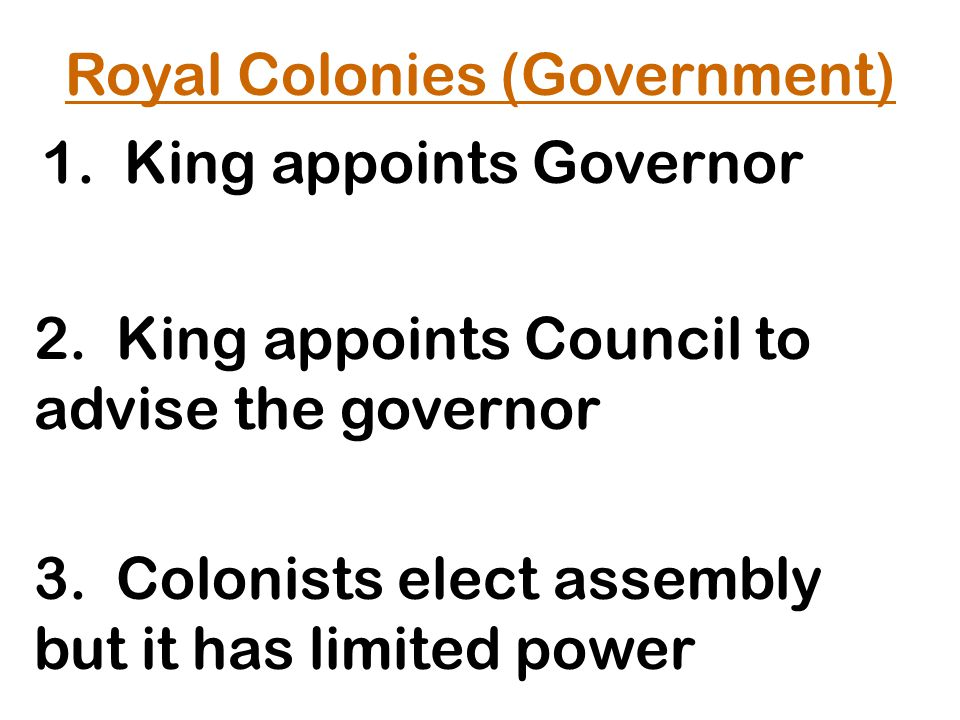 Royal Colonies (Government)