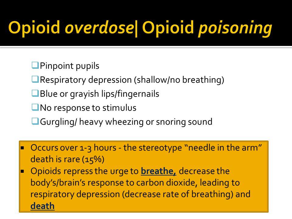 Opioid overdose| Opioid poisoning