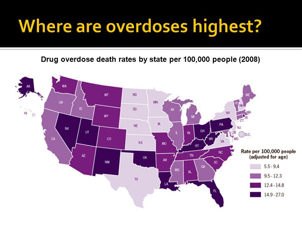 Where are overdoses highest