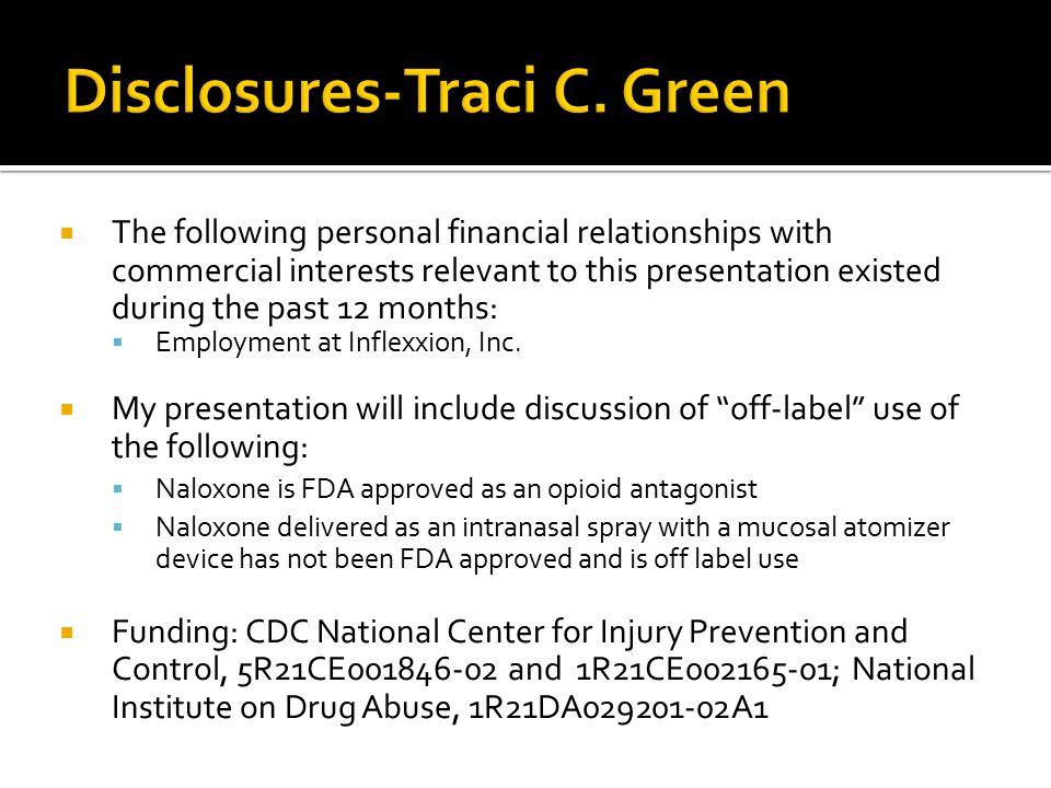 Disclosures-Traci C. Green