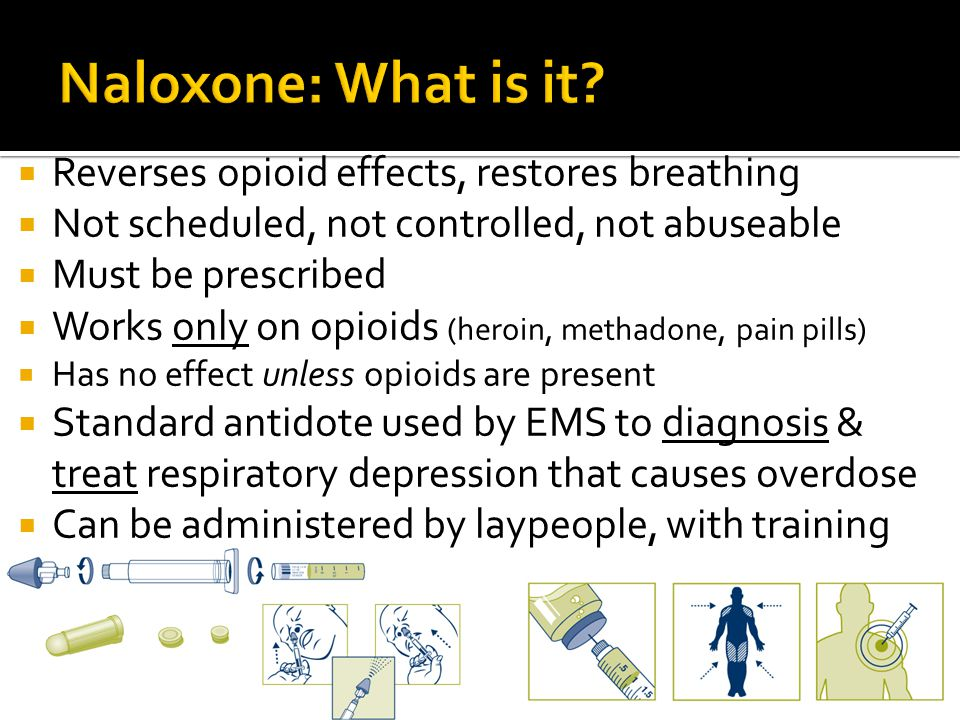 Naloxone: What is it Reverses opioid effects, restores breathing