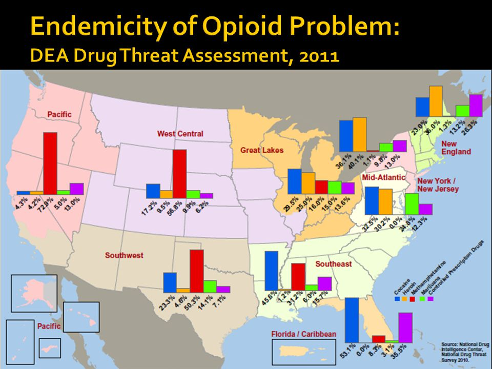 Endemicity of Opioid Problem: DEA Drug Threat Assessment, 2011