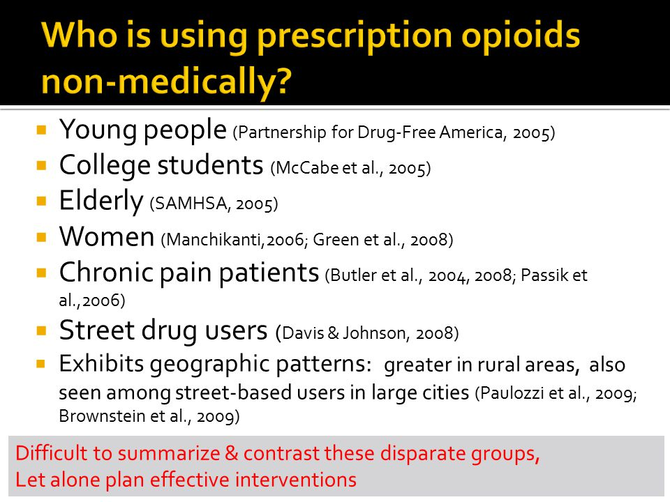 Who is using prescription opioids non-medically