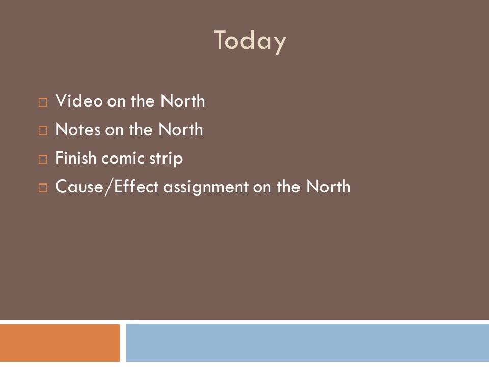 Today Video on the North Notes on the North Finish comic strip