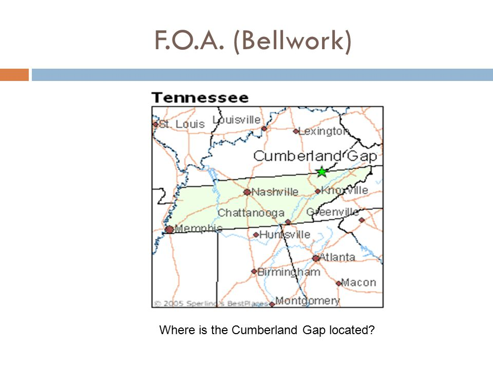 Where is the Cumberland Gap located