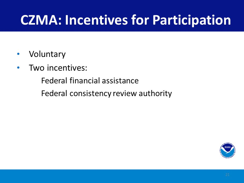 CZMA: Incentives for Participation