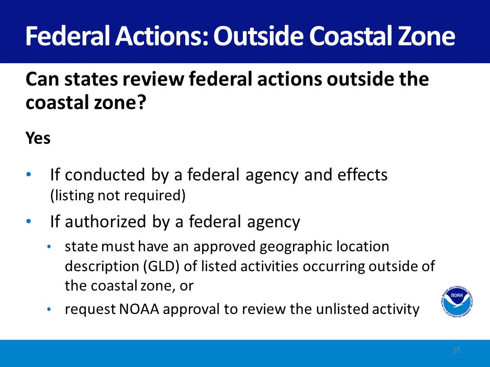 Federal Actions: Outside Coastal Zone