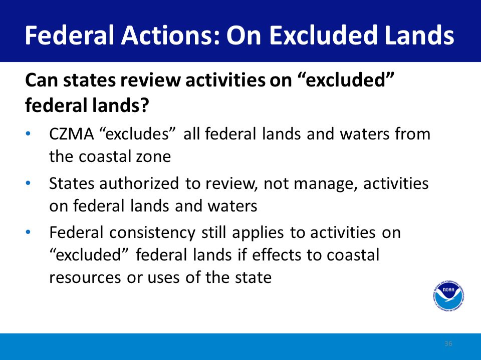 Federal Actions: On Excluded Lands