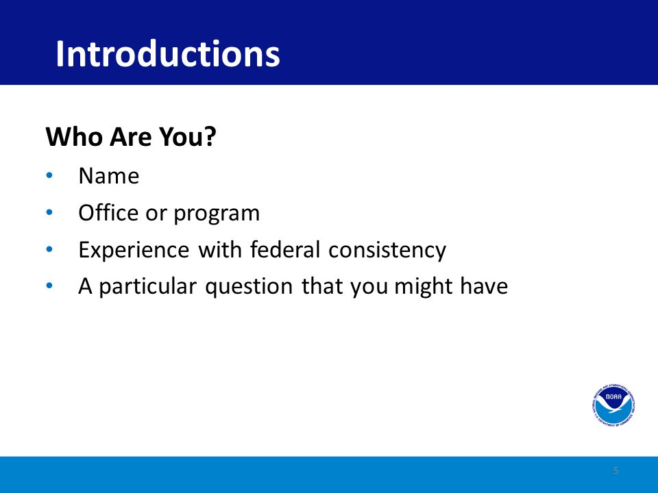 Introductions Who Are You Name Office or program