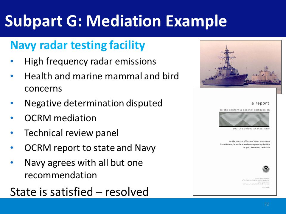 Subpart G: Mediation Example