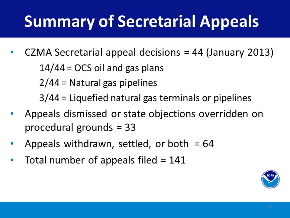 Summary of Secretarial Appeals