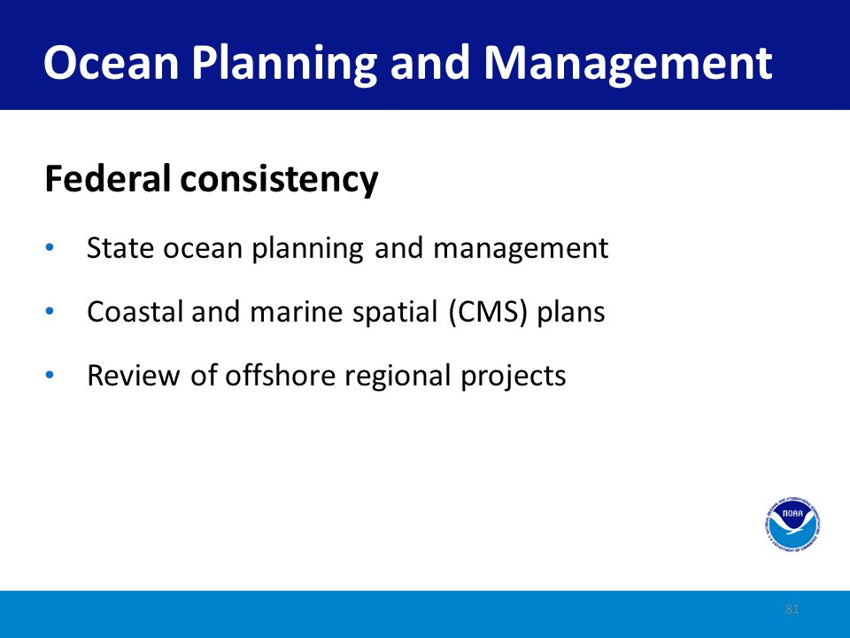 Ocean Planning and Management