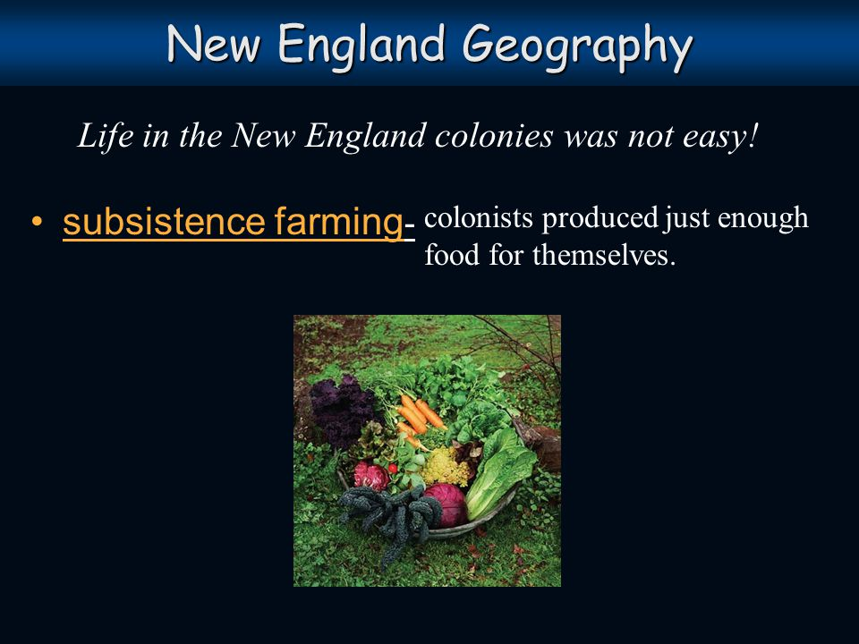 Life in the New England colonies was not easy!