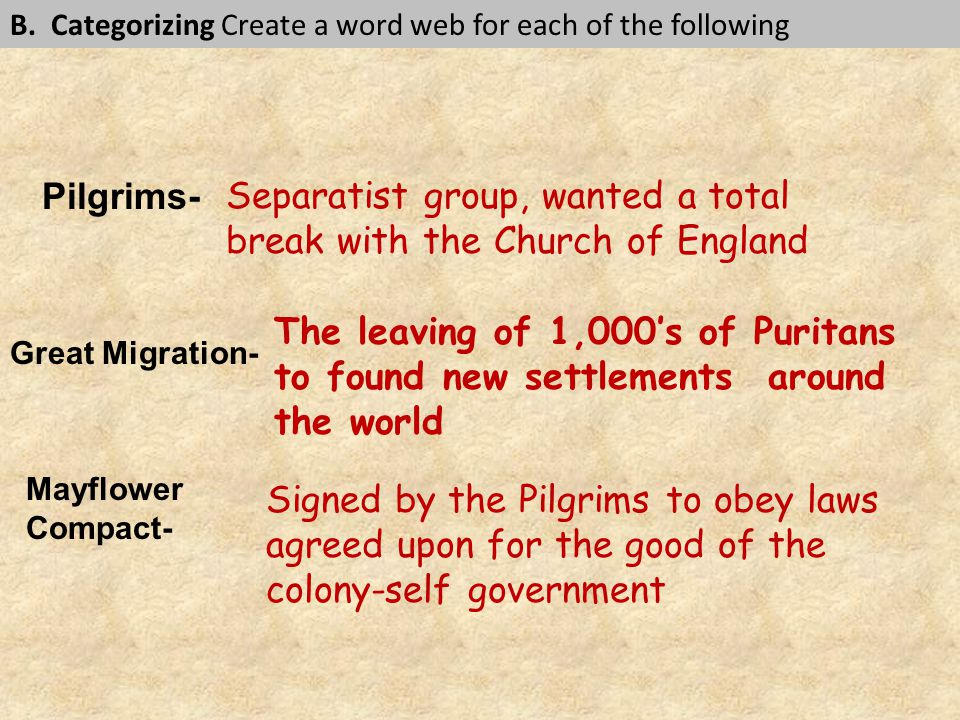 Separatist group, wanted a total break with the Church of England