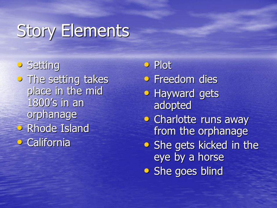 Story Elements Setting