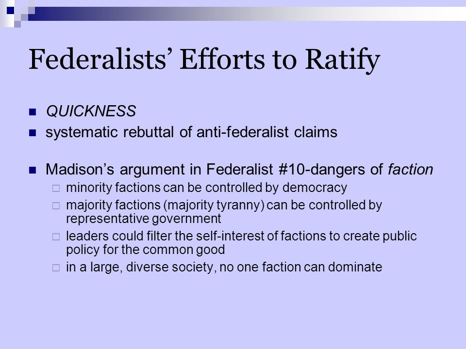 Federalists' Efforts to Ratify
