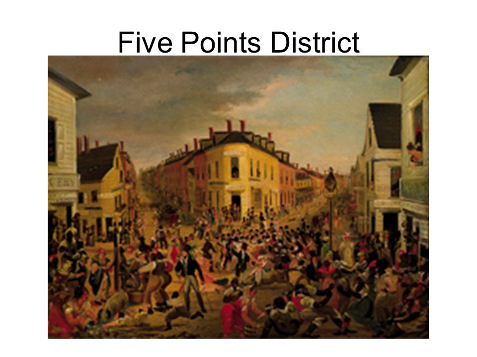 Five Points District Five Points District, artist unknown, c. 1829