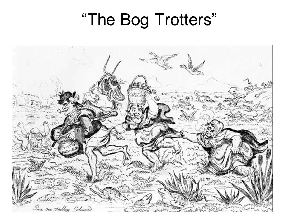 The Bog Trotters Cartoonists often chose Irish over Germans as subjects of their political commentary.