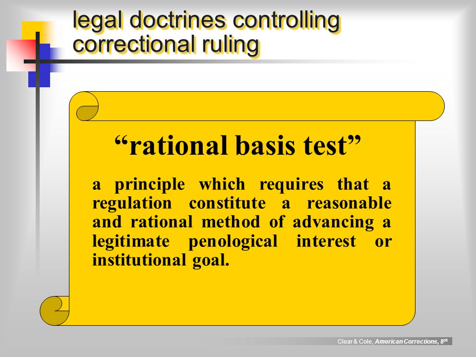legal doctrines controlling correctional ruling