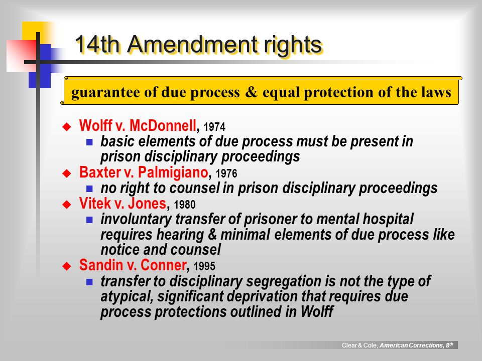 guarantee of due process & equal protection of the laws
