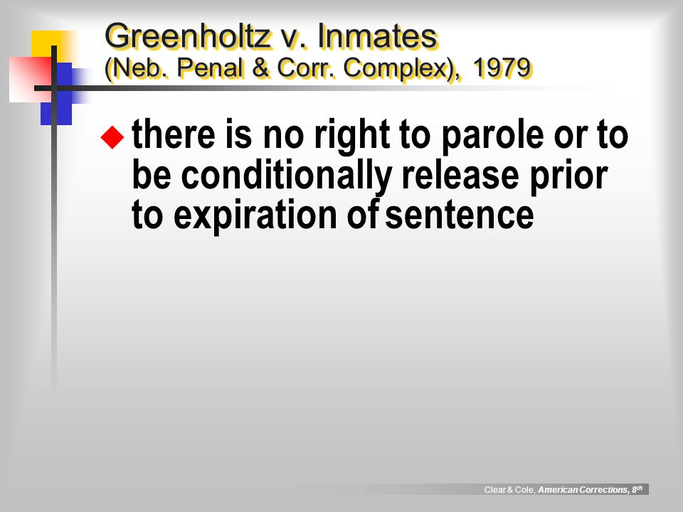 Greenholtz v. Inmates (Neb. Penal & Corr. Complex), 1979