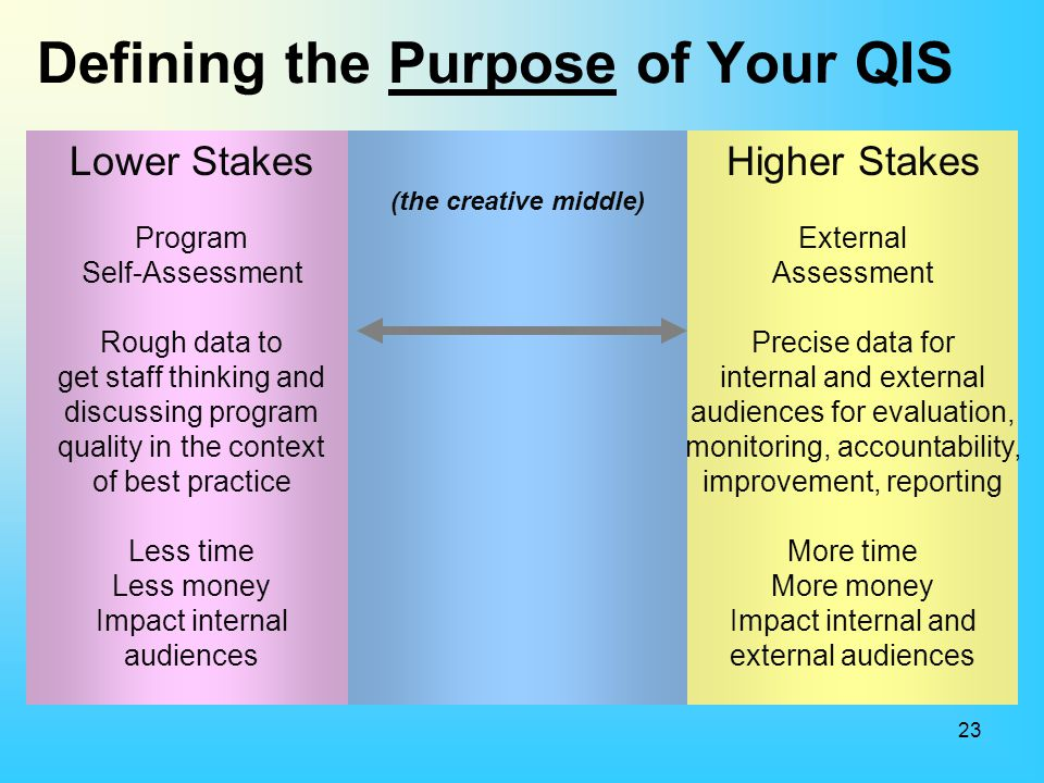 Defining the Purpose of Your QIS