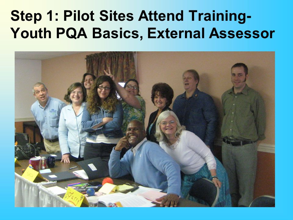 Step 1: Pilot Sites Attend Training- Youth PQA Basics, External Assessor