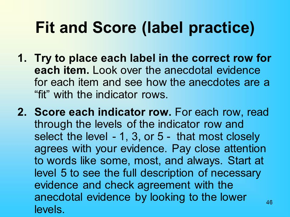Fit and Score (label practice)