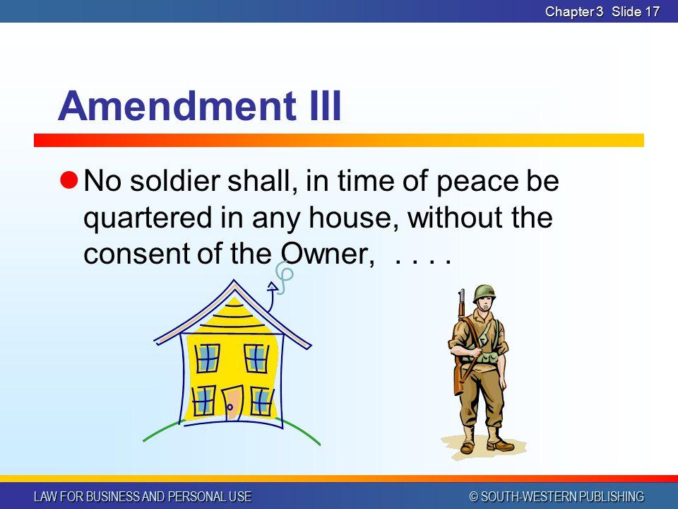 Chapter 3 Amendment III.