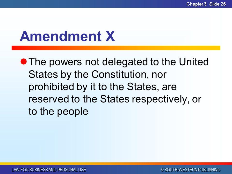 Chapter 3 Amendment X.