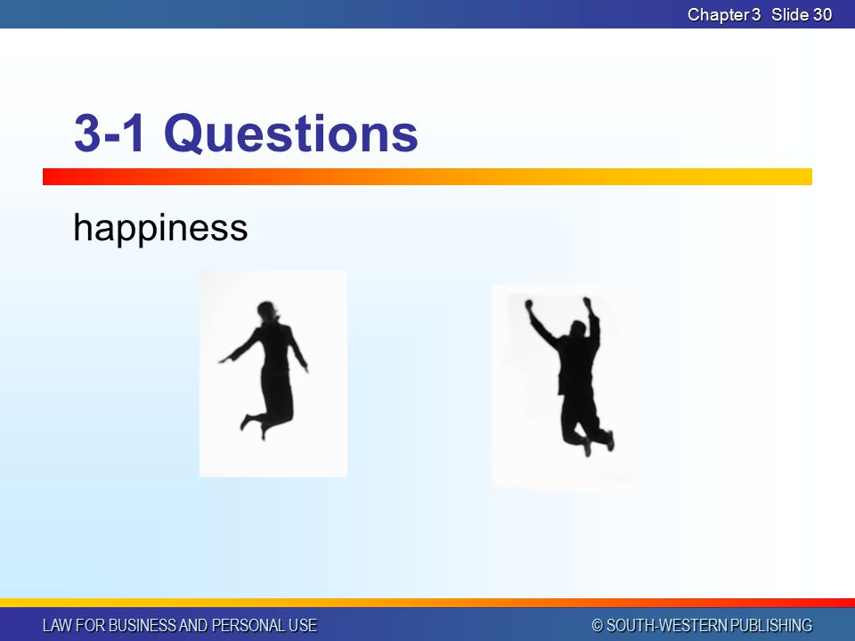 Chapter 3 3-1 Questions happiness
