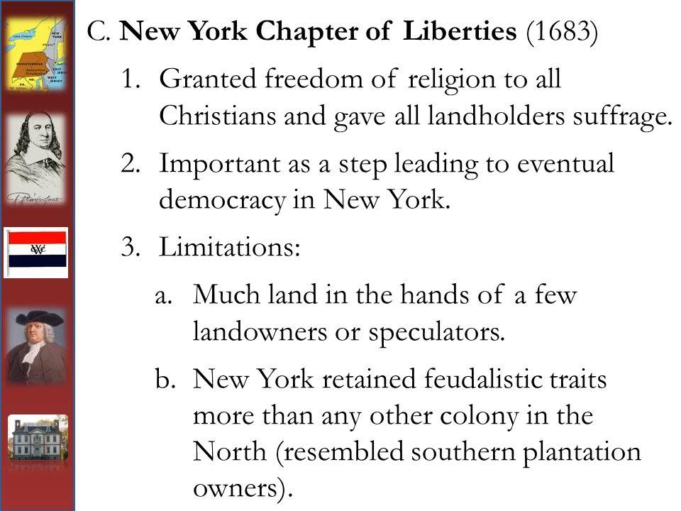 C. New York Chapter of Liberties (1683)